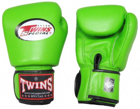 Twins Muay Thai Boxing Gloves (BGVL-3) Green