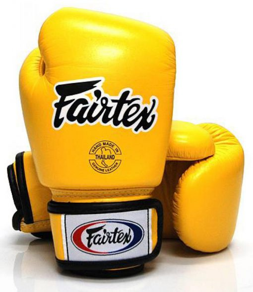 Yellow Fairtex Boxing Gloves