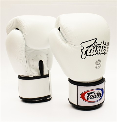 White Fairtex Boxing Gloves