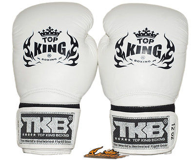 Top King Super Air White Boxing Gloves