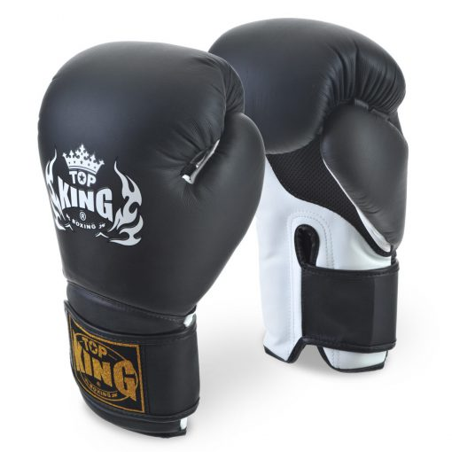 Top King Super Air Black Boxing Gloves
