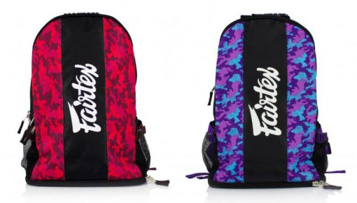 Fairtex Backpack (BAG4) Red Camo, Purple Camo