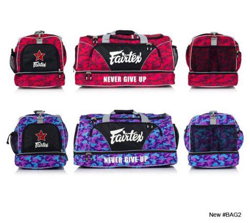 Fairtex Gym Bag (BAG2) Red Camo, Purple/Blue Camo
