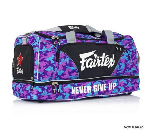Fairtex Gym Bag (BAG2) Purple/Blue Camo