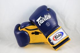 Fairtex Pro Training Gloves BGV9 - Mexican Style (Navy/Yellow)-0