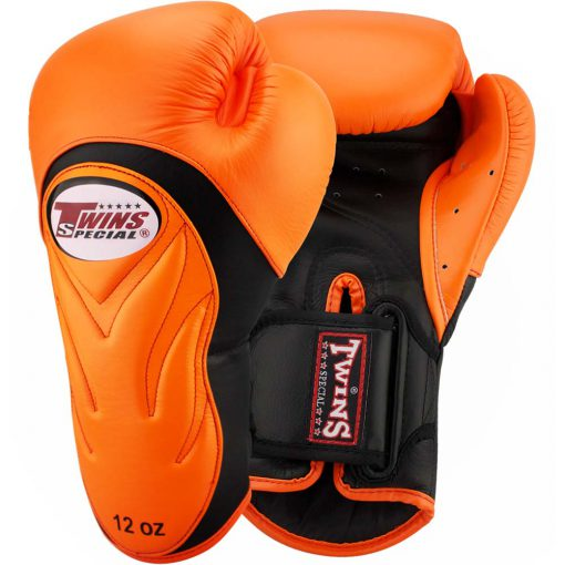 Twins Embossed Boxing Gloves (BGVL6) - Orange