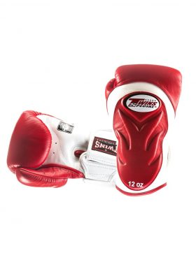 Twins Embossed Boxing Gloves (BGVL6) - Red