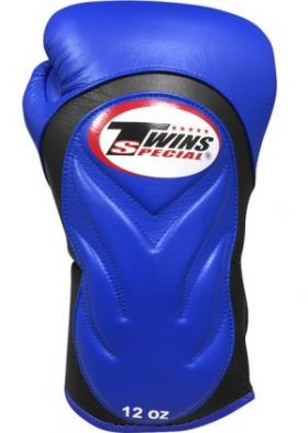 Twins embossed leather boxing gloves