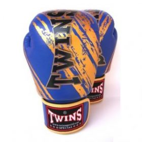 Twins Fancy Boxing Gloves (FBGV-TW2) - Blue/Gold