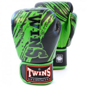 Twins Fancy Boxing Gloves (FBGV-TW2) - Black/Green