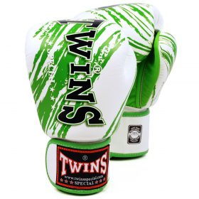 Twins Fancy Boxing Gloves (FBGV-TW2) - White/Green