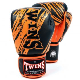 Twins Fancy Boxing Gloves (FBGV-TW2) - Black/Orange