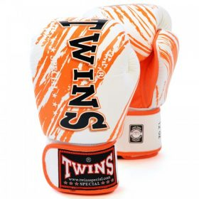 Twins Fancy Boxing Gloves (FBGV-TW2) - White/Orange
