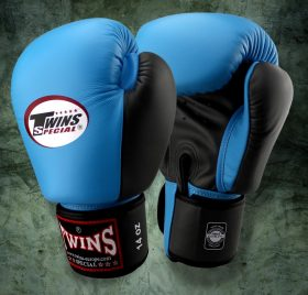 Twins Boxing Gloves (BGVL-3T) - Light Blue/Black
