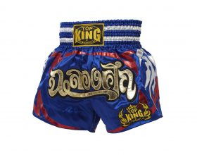 Blue Top King Muay Thai Shorts TKTBS080