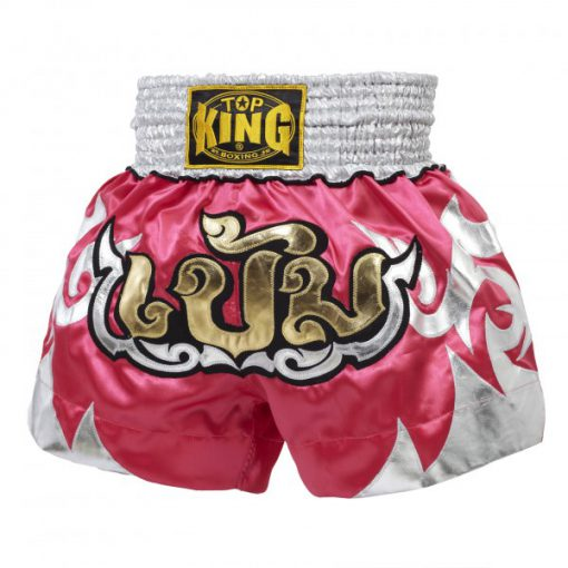 Pink Top King Muay Thai Shorts TKTBS084