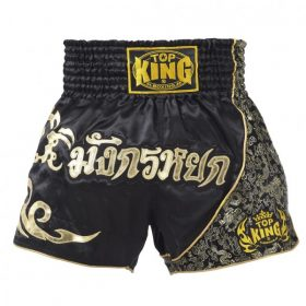 Black Gold Top King Muay Thai Shorts TKTBS089