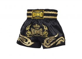 Black Gold Top King Muay Thai Shorts TKTBS095