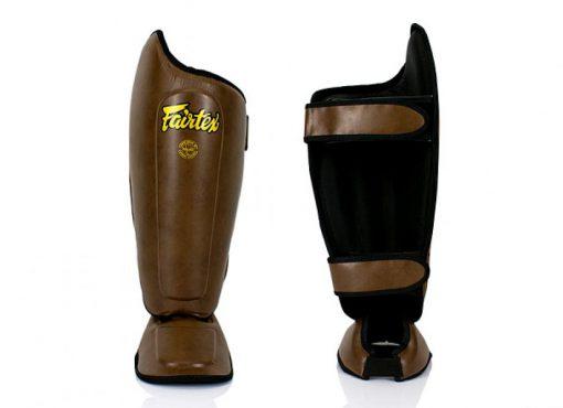 Fairtex Muay Thai Shinguards SP8 - Brown