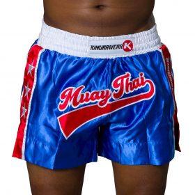 Kimurawear Retro Muay Thai Shorts Blue