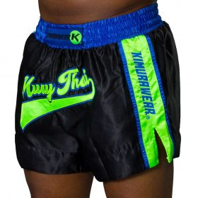 Kimurawear Retro Muay Thai Shorts Black