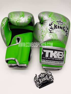 Top King Snake Boxing Gloves - Green/Silver