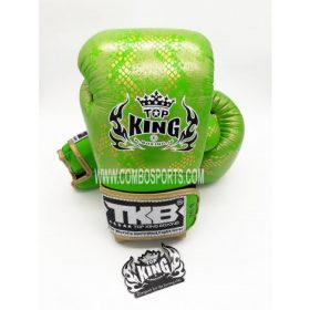 Top King Snake Boxing Gloves - Green/Gold