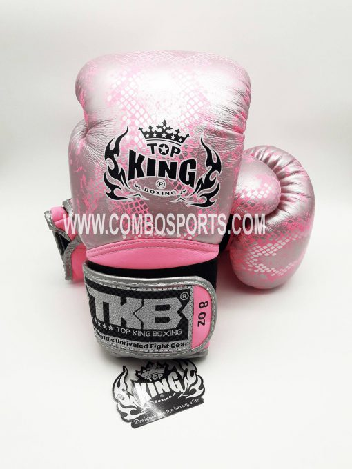 Top King Snake Boxing Gloves - Pink/Silver