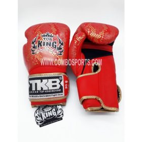 Top King Snake Boxing Gloves - Red/Gold