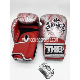Top King Snake Boxing Gloves - Red/Silver