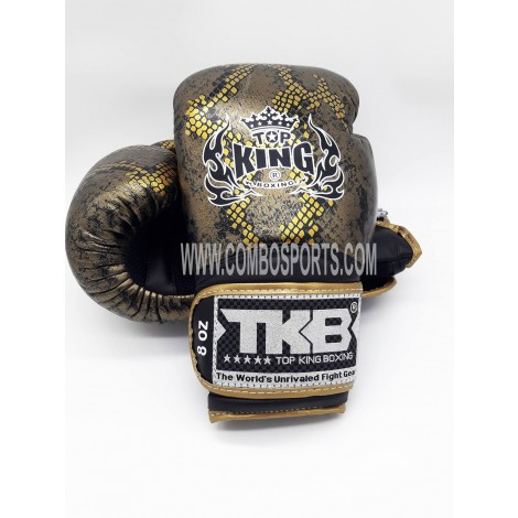 Top King Snake Boxing Gloves - Black/Gold