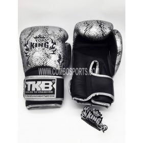 Top King Snake Boxing Gloves - Black/Silver