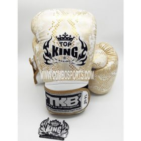 Top King Snake Boxing Gloves - White/Gold