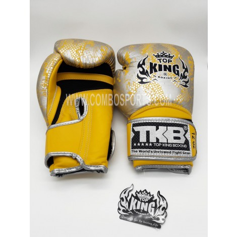 Top King Snake Boxing Gloves - Yellow/Silver