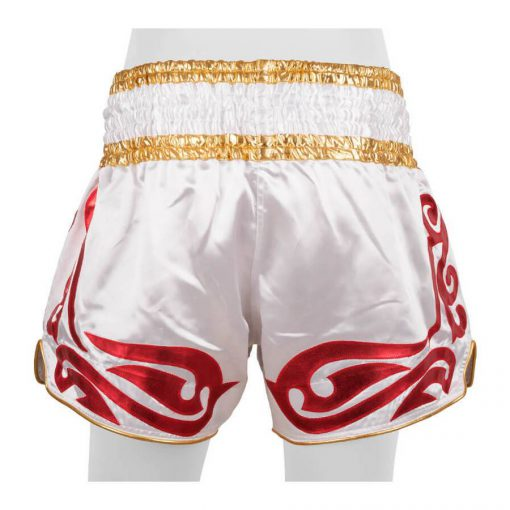 Top King Muay Thai Shorts - White (TKTBS-096)