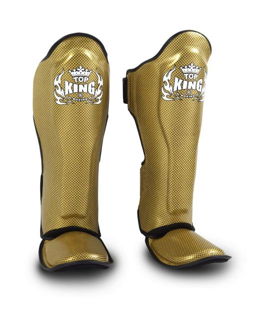 Top King Empower Creativity Shinguards TKSGEM02 Black/Gold