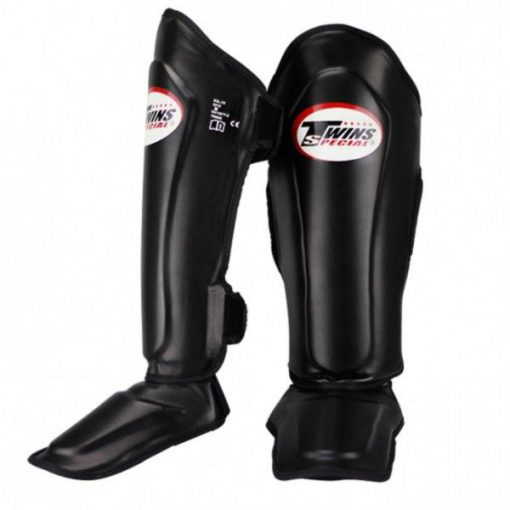 Twins Leather Shin Guards (SGL-10) Black