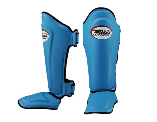 Twins Leather Shin Guards (SGL-10) Light Blue