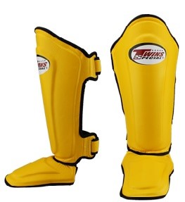 Twins Leather Shin Guards (SGL-10) Yellow
