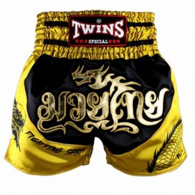 Twins Muay Thai Shorts - TBS-Dragon-2 (Black/Gold)