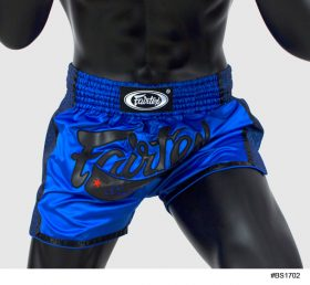 Fairtex Slim Cut Muay Thai Shorts - Blue/Black BS1702