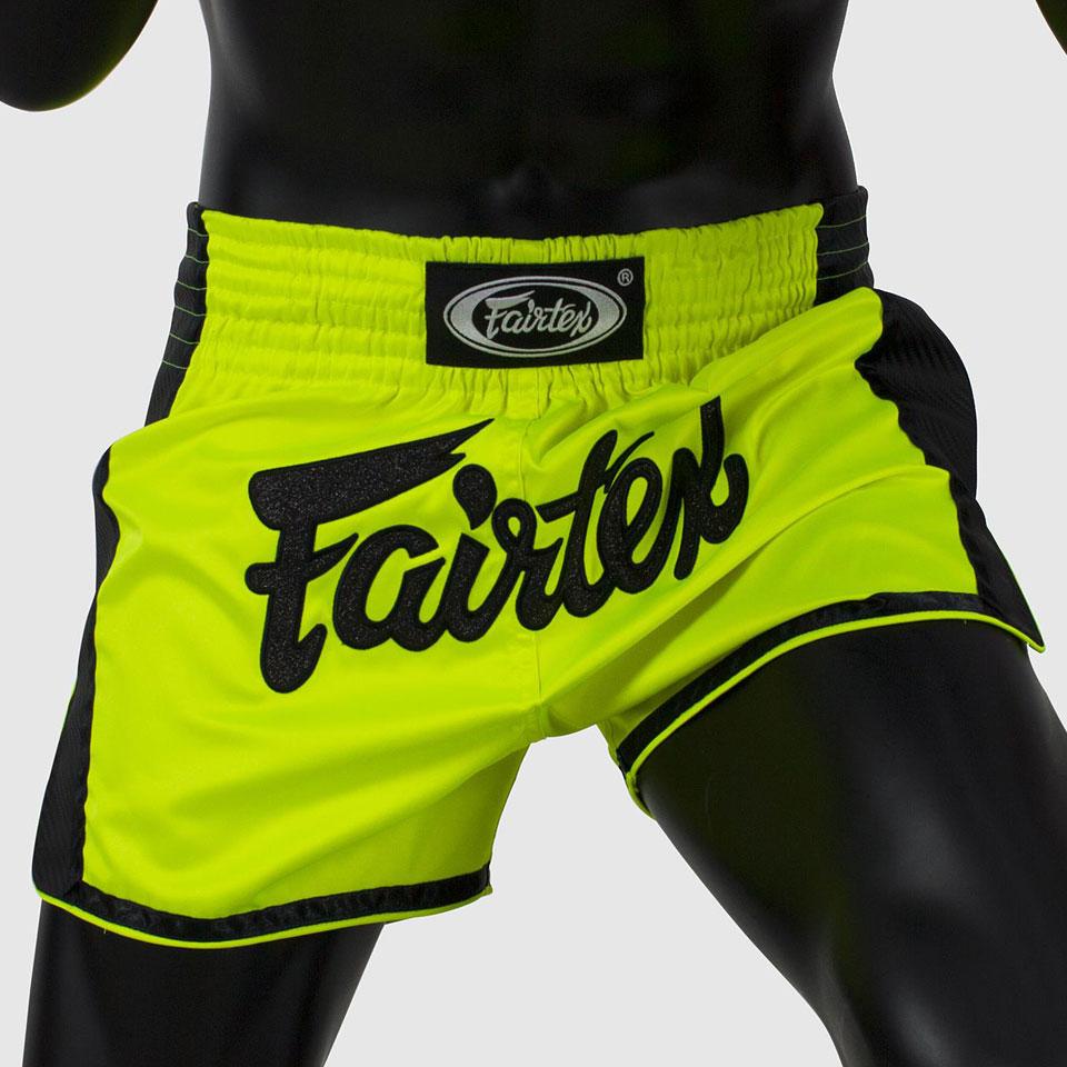Fairtex Slim Cut Muay Thai Shorts - Lime Green BS1706