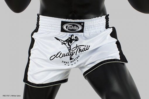 Fairtex Slim Cut Muay Thai Shorts - White BS1707