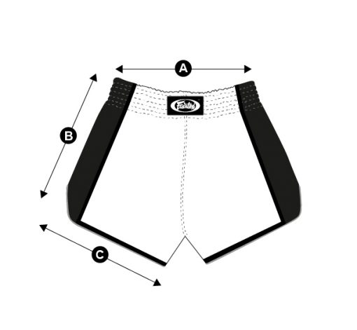 Fairtex Slim Cut Muay Thai Shorts - Size Chart