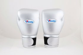 Winning Silver Boxing Gloves