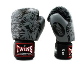 Twins Special Wolf Boxing Gloves FBGV50 Grey